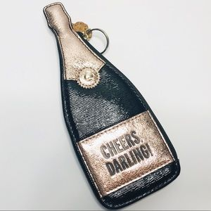 KATE SPADE COIN PURSE CHAMPAGNE BOTTLE